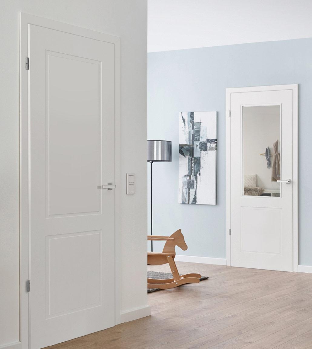 Innentüren in Weiß im Eingangsbereich   Holz Kolm in Tüßling